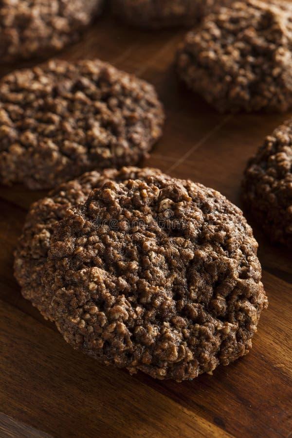 Doppio cioccolato Chip Oatmeal Cookies fotografia stock