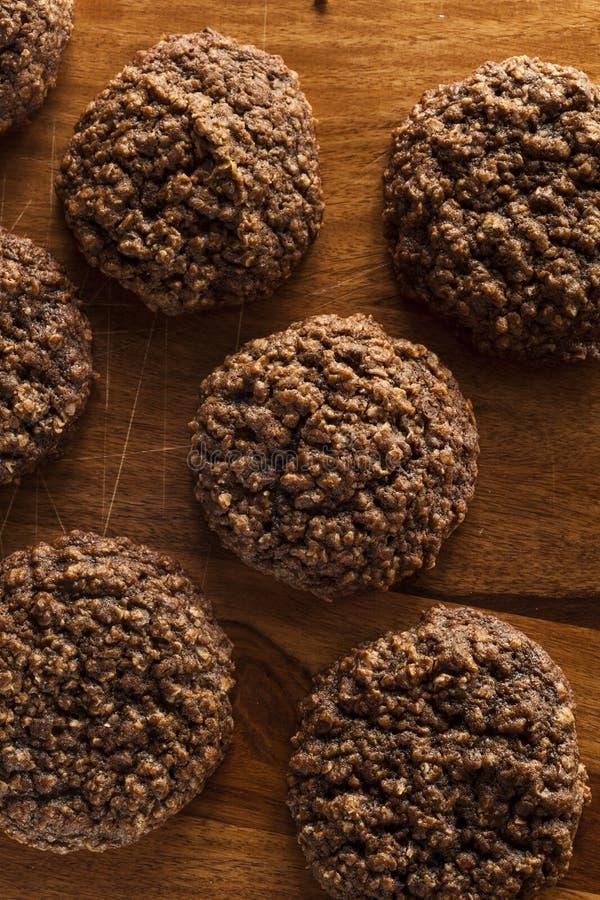 Doppio cioccolato Chip Oatmeal Cookies fotografia stock libera da diritti