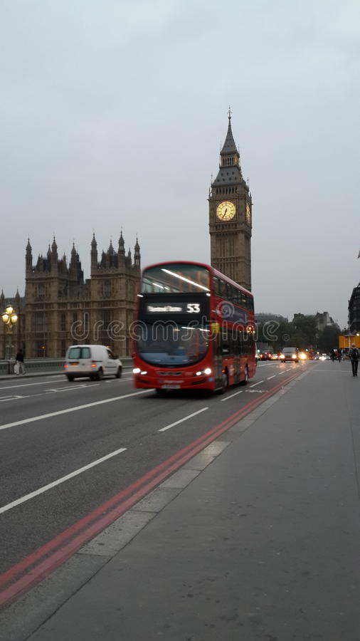 Doppio Decker Rush di Londra immagine stock libera da diritti