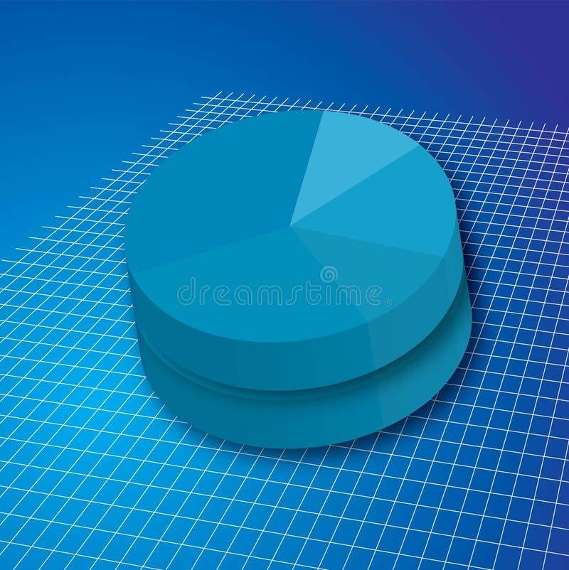 Doppio di griglia del grafico a torta illustrazione vettoriale