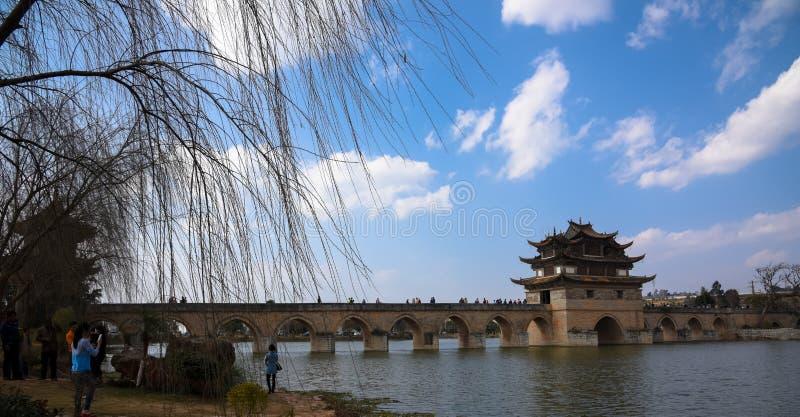 Doppio Dragon Bridge immagine stock
