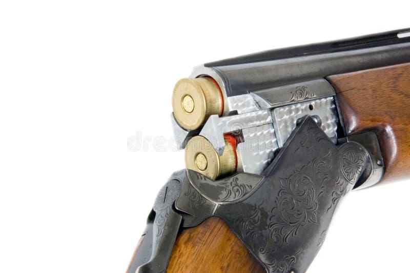 Doppio fucile da caccia caloria 12 del barilotto immagini stock libere da diritti