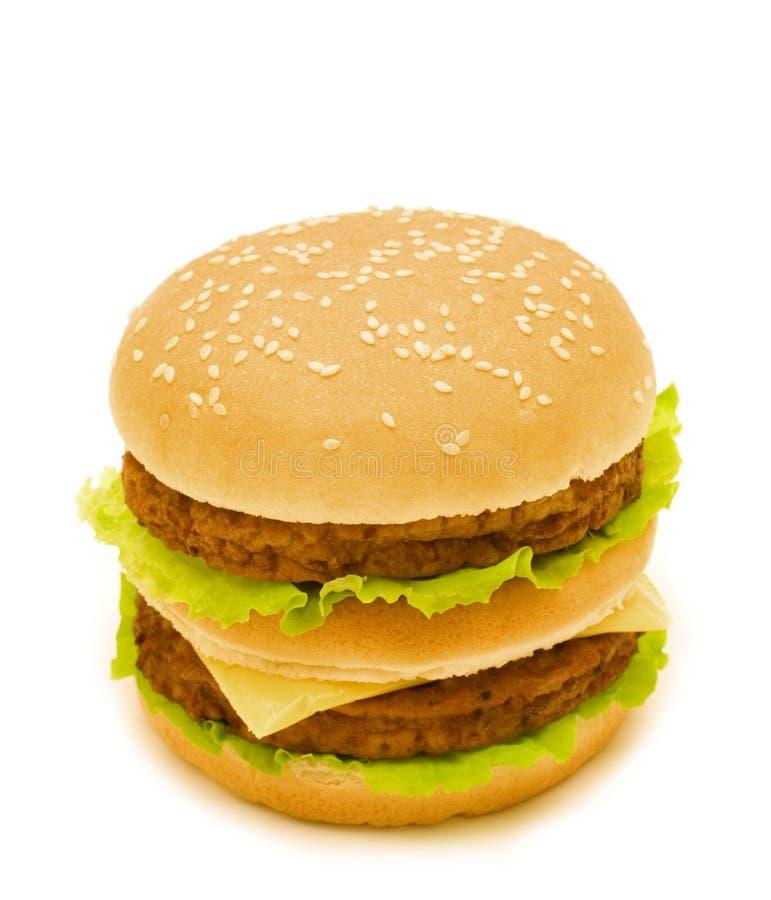 Doppio hamburger fotografia stock