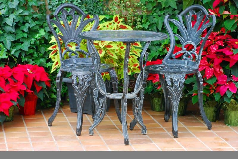 Download Doppio insieme del patio fotografia stock. Immagine di verde - 3883622