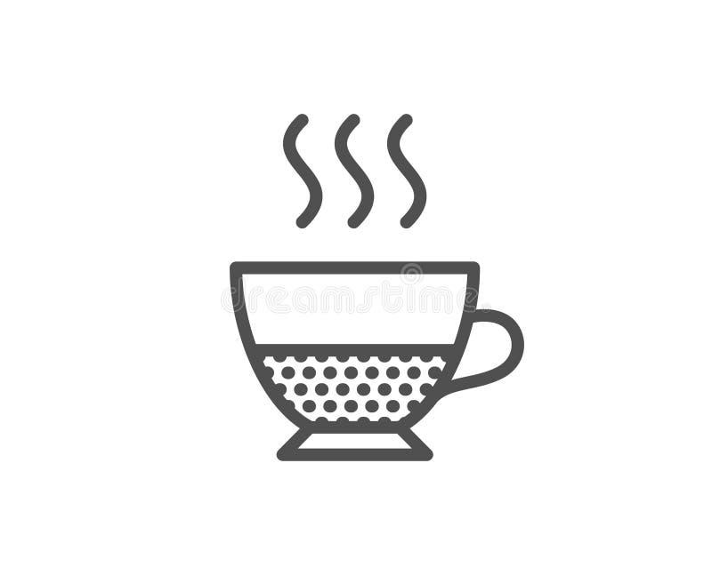 Doppio kawy ikona Gorący napoju znak ilustracja wektor