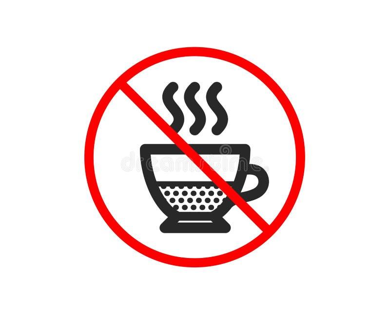 Doppio kawy ikona Gor?cy napoju znak wektor ilustracja wektor