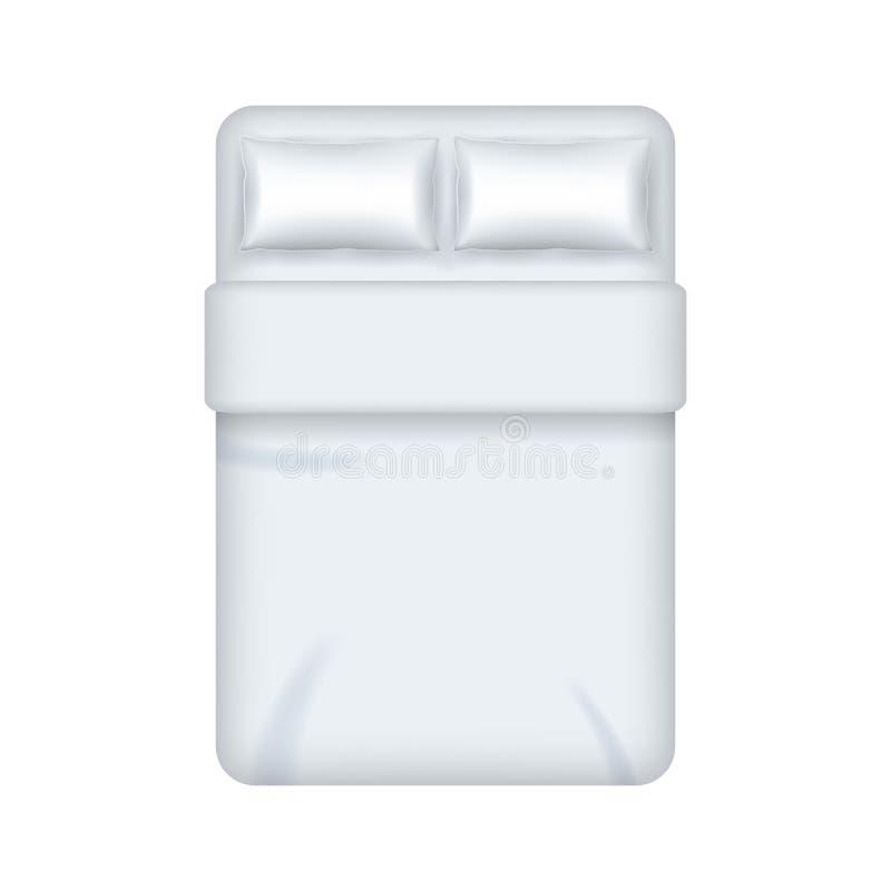 Doppio modello in bianco bianco dettagliato realistico del modello della lettiera 3d Vettore royalty illustrazione gratis