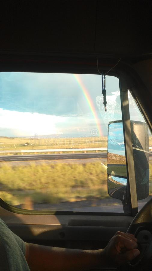 Doppio Rainbow immagine stock