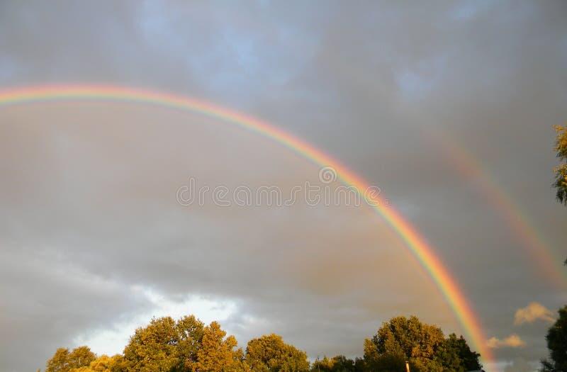 Doppio Rainbow fotografia stock