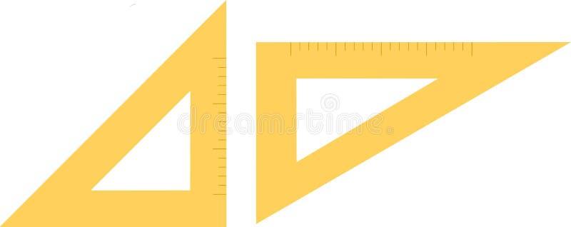 Doppio righello del triangolo immagini stock