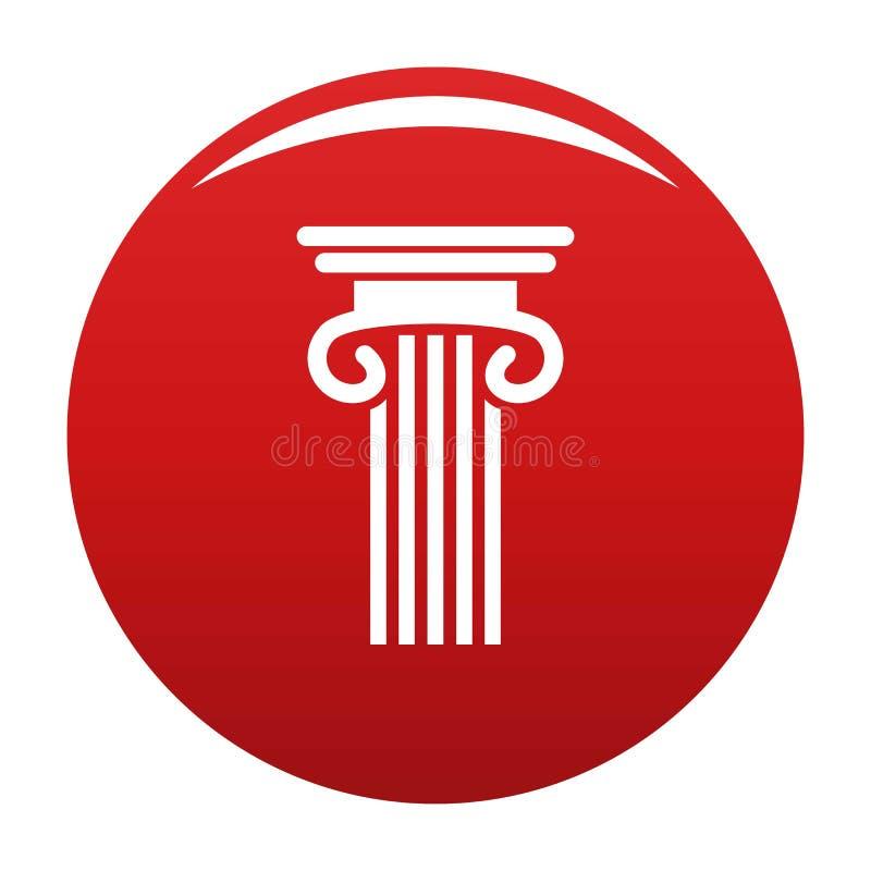 Doppio rosso colonnato di vettore dell'icona della colonna illustrazione vettoriale