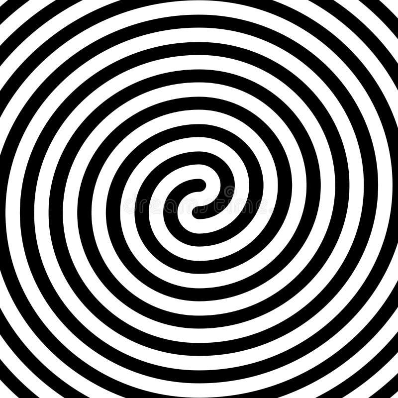 Doppio simbolo a spirale nero spesso Elemento piano semplice di progettazione di vettore illustrazione di stock