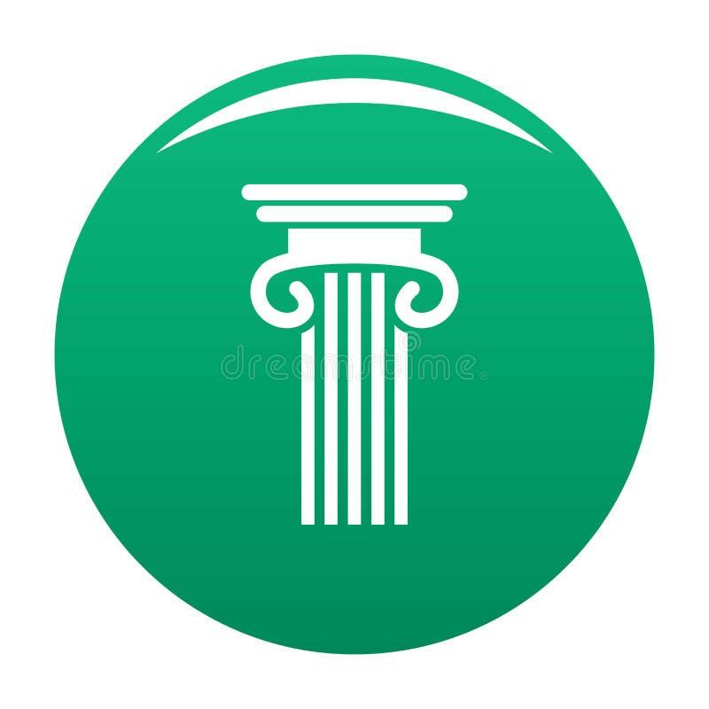 Doppio verde colonnato dell'icona della colonna illustrazione di stock