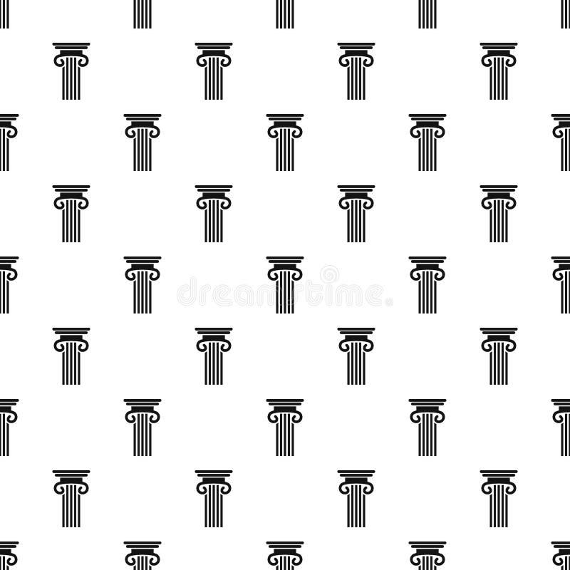 Doppio vettore senza cuciture colonnato del modello di colonna royalty illustrazione gratis