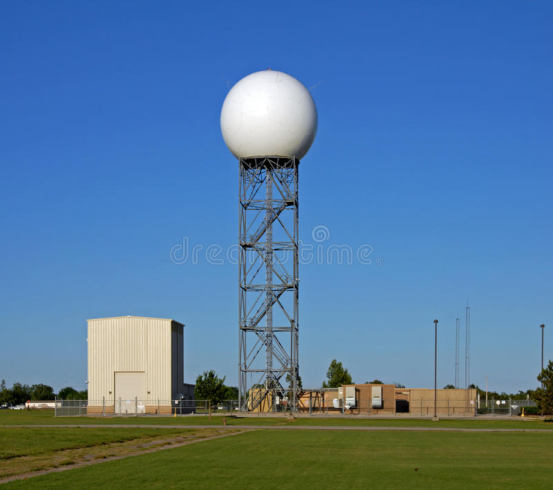 Doppler radar dome royalty free stock photo