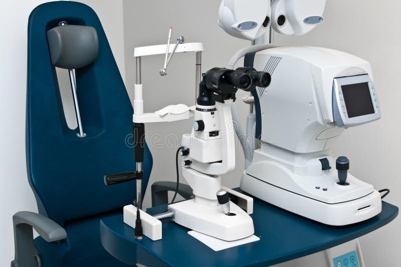 Dopter moderno dell'optometrista fotografia stock libera da diritti