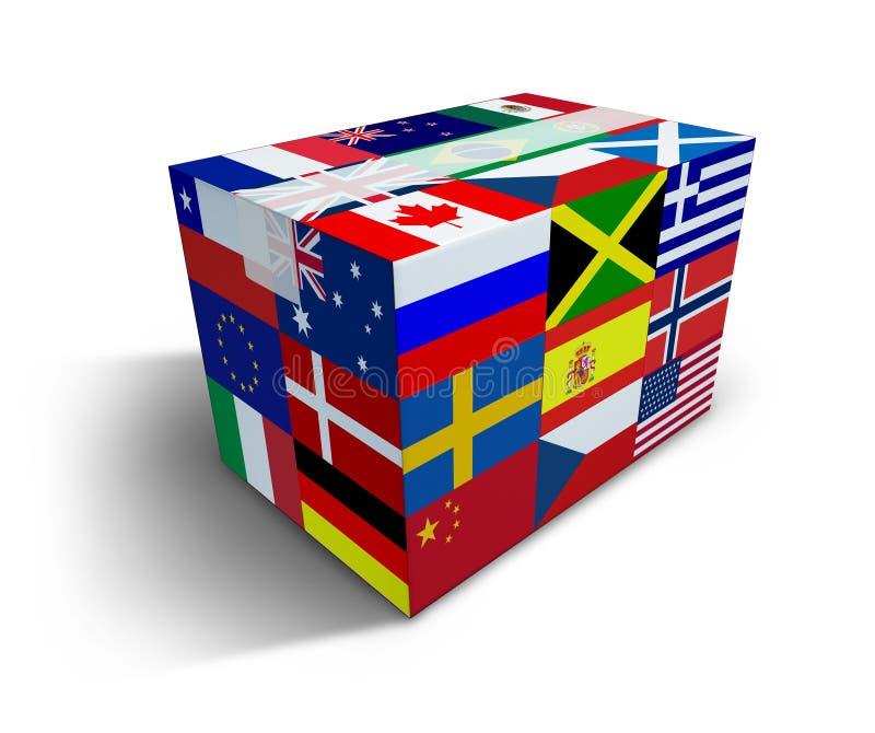 doręczeniowa globalna wysyłka royalty ilustracja
