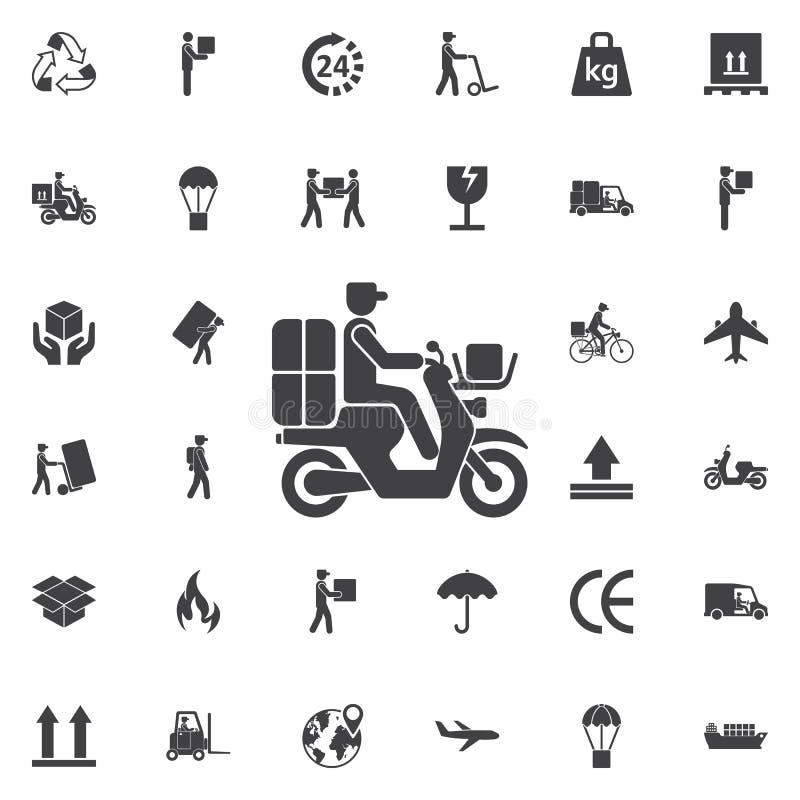 doręczeniowa moped ikona ilustracji