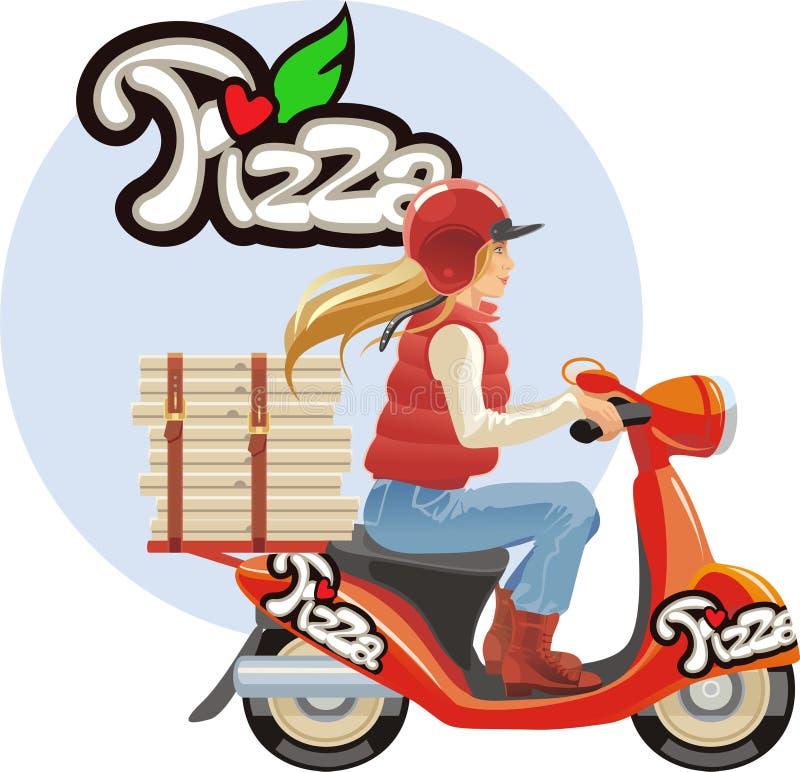 Doręczeniowa pizza royalty ilustracja