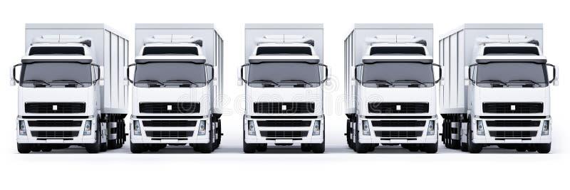 doręczeniowe ciężarówki ilustracja wektor