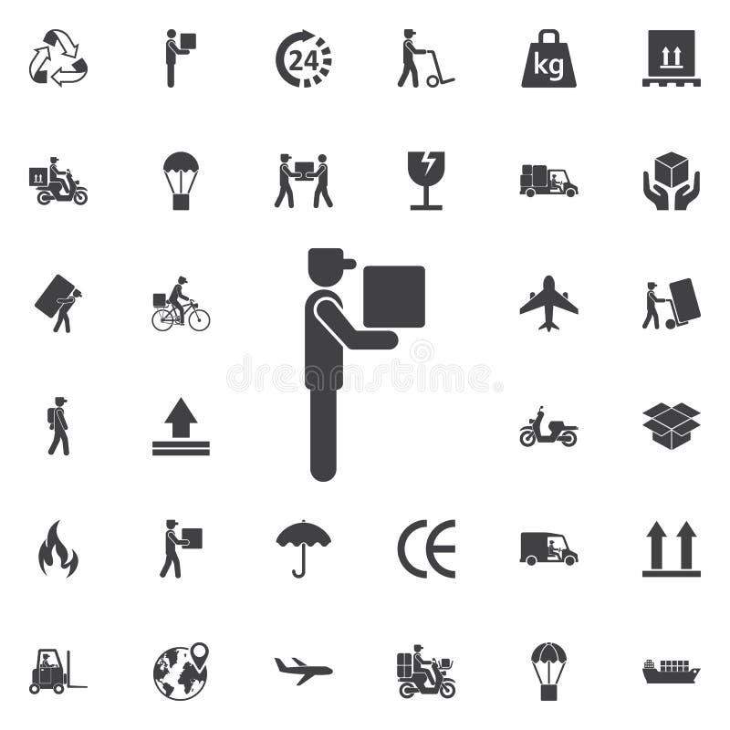 Doręczeniowego mężczyzna ikona ilustracja wektor