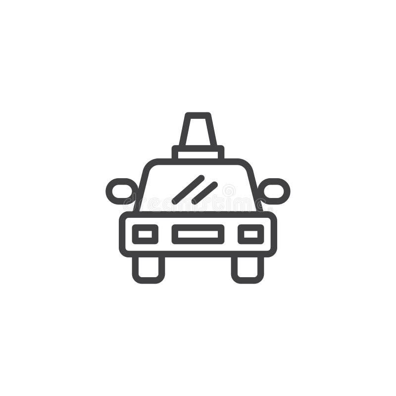 Doręczeniowego samochodu linii ikona ilustracja wektor