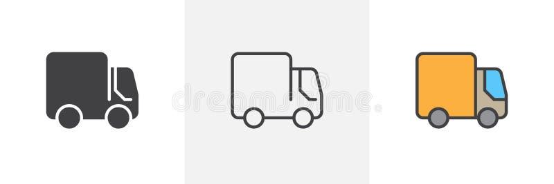 Doręczeniowej ciężarówki ikona ilustracja wektor