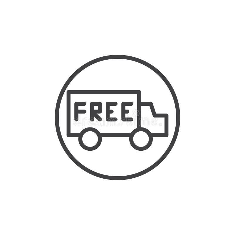 Doręczeniowej ciężarówki linii ikona ilustracji