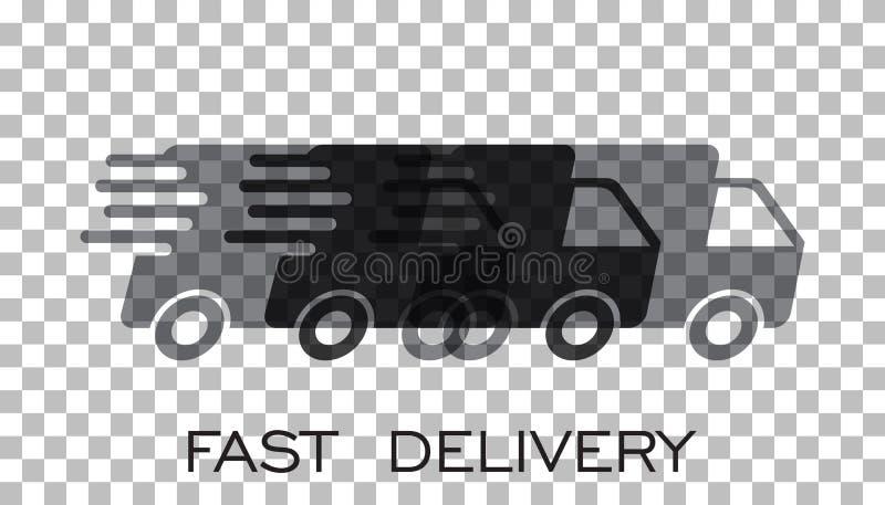 Doręczeniowej ciężarówki loga wektoru ilustracja Szybka doręczeniowa usługa s ilustracja wektor
