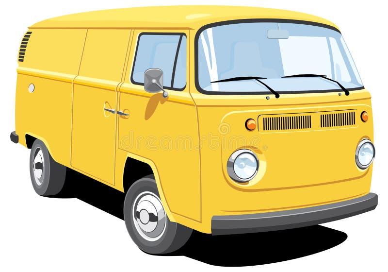 doręczeniowy samochód dostawczy ilustracja wektor