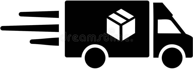 Doręczeniowy samochód dostawczy dla pakuneczka ilustracja wektor