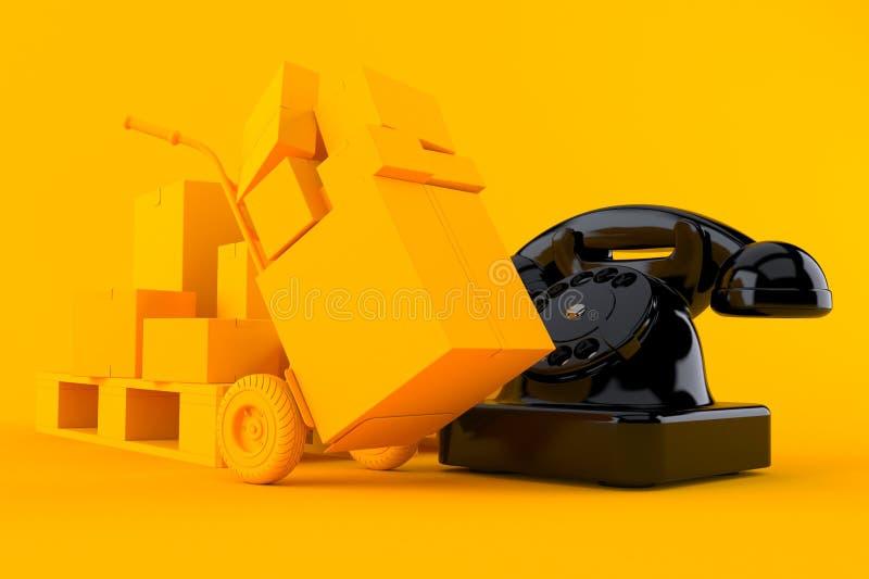 Doręczeniowy tło z telefonem ilustracji
