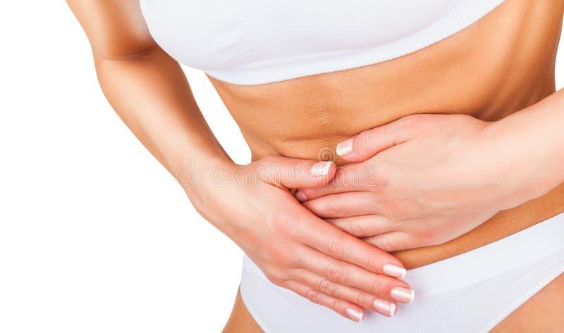 Dor abdominal foto de stock