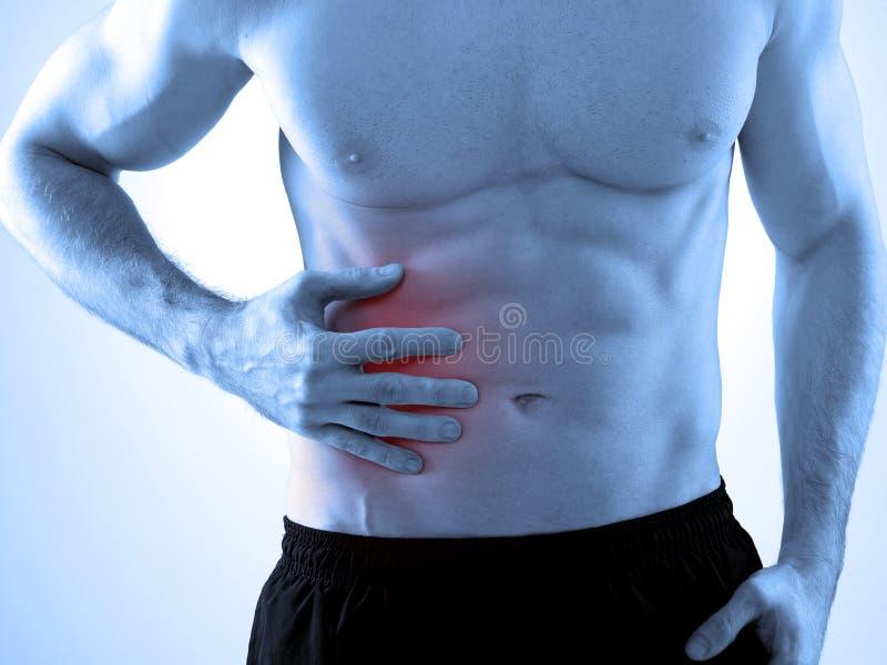 Dor abdominal imagens de stock