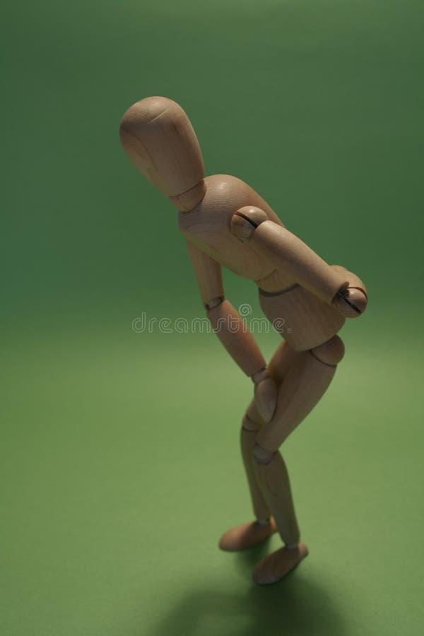 Dor da parte traseira e do joelho imagens de stock royalty free