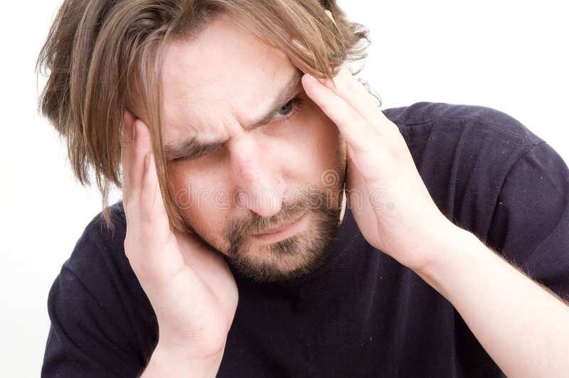 Dor de cabeça fotos de stock