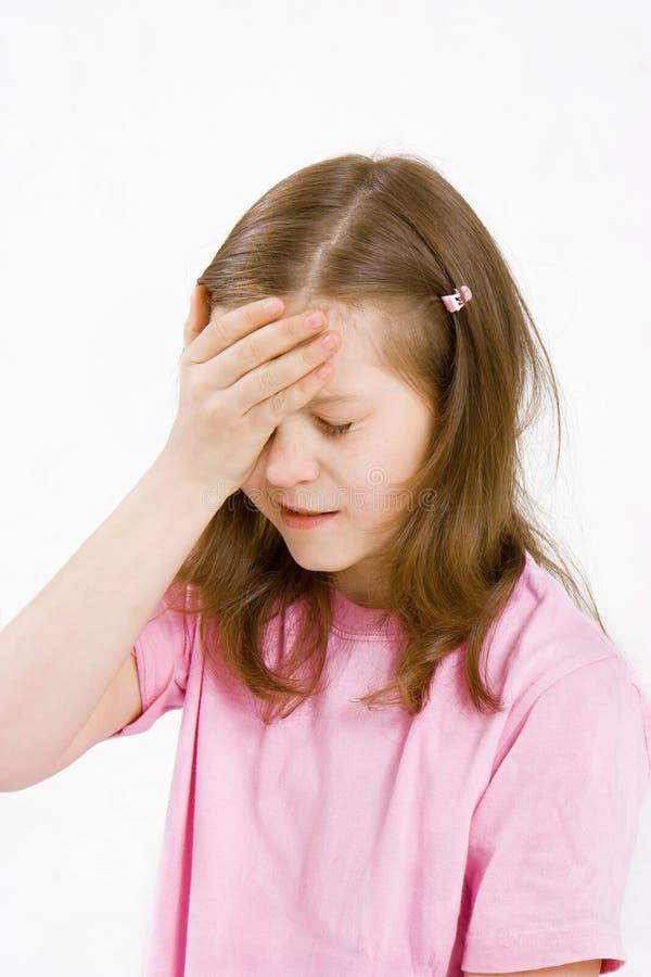 Dor de cabeça das crianças fotografia de stock