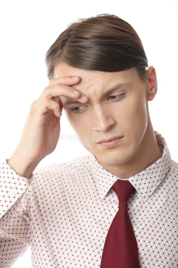 Dor de cabeça e depressão imagem de stock