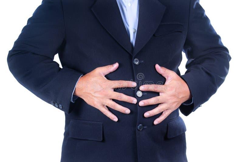 Dor de estômago imagem de stock