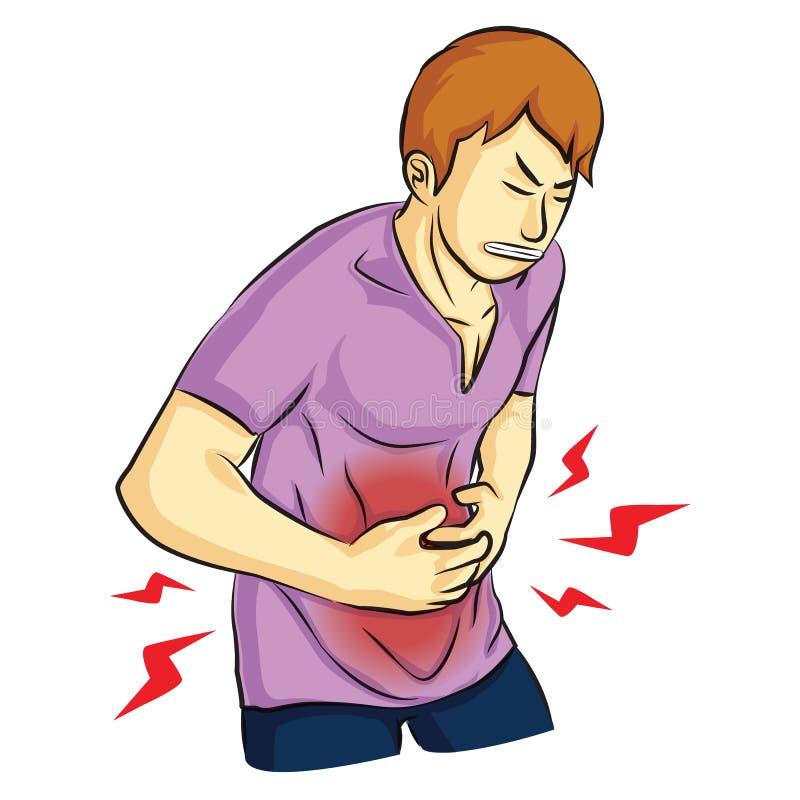 Dor de estômago ferido imagens de stock
