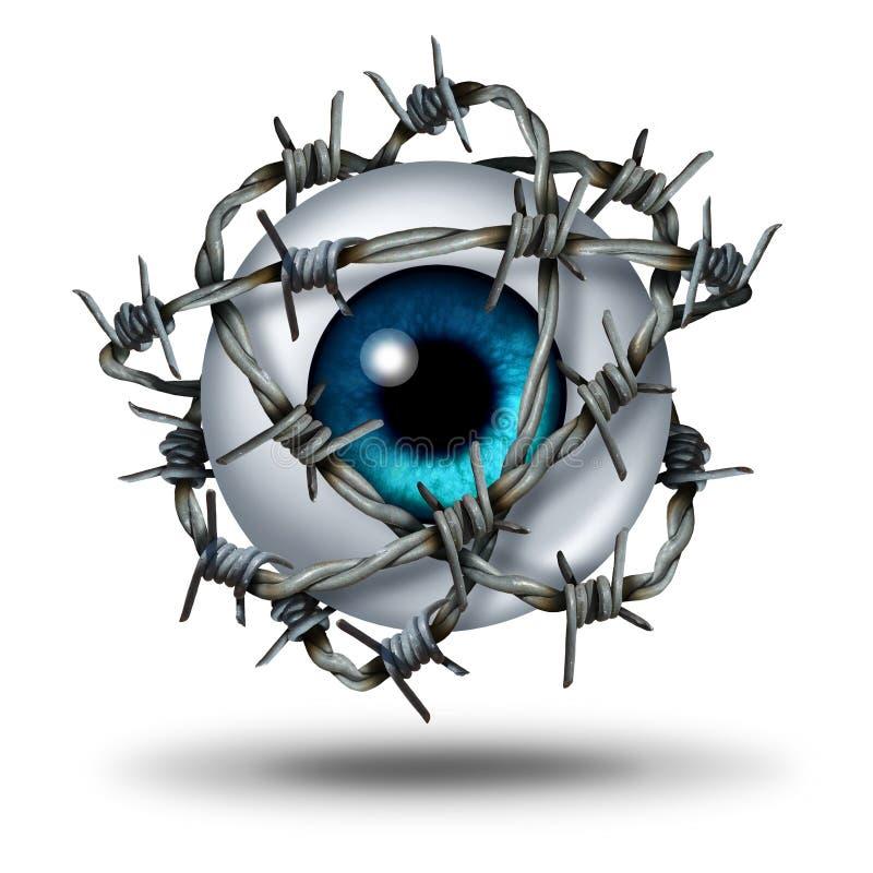 Dor de olho ilustração stock