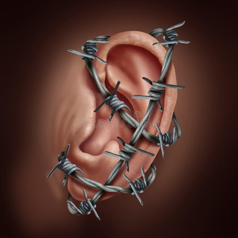 Dor de orelha humana ilustração do vetor