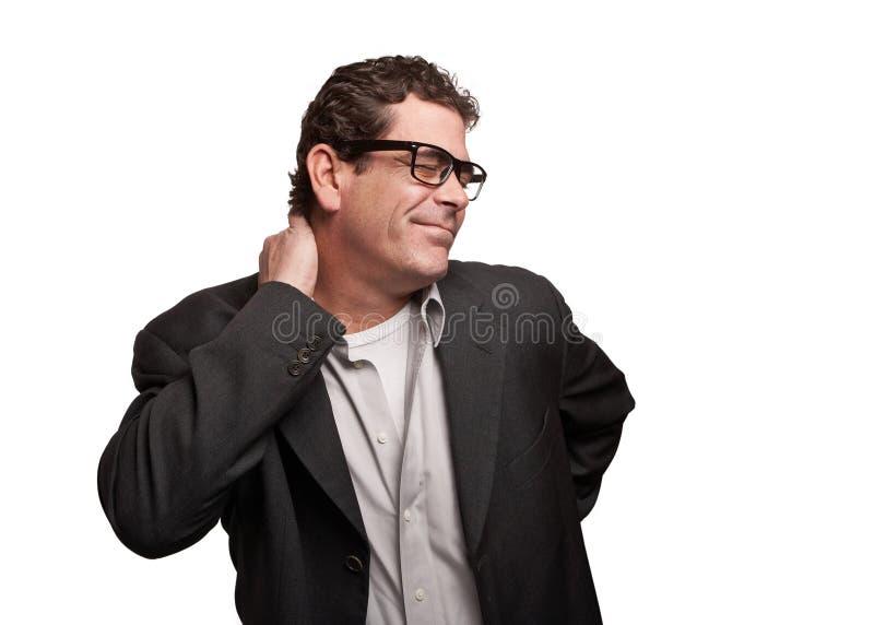Dor de pescoço imagem de stock
