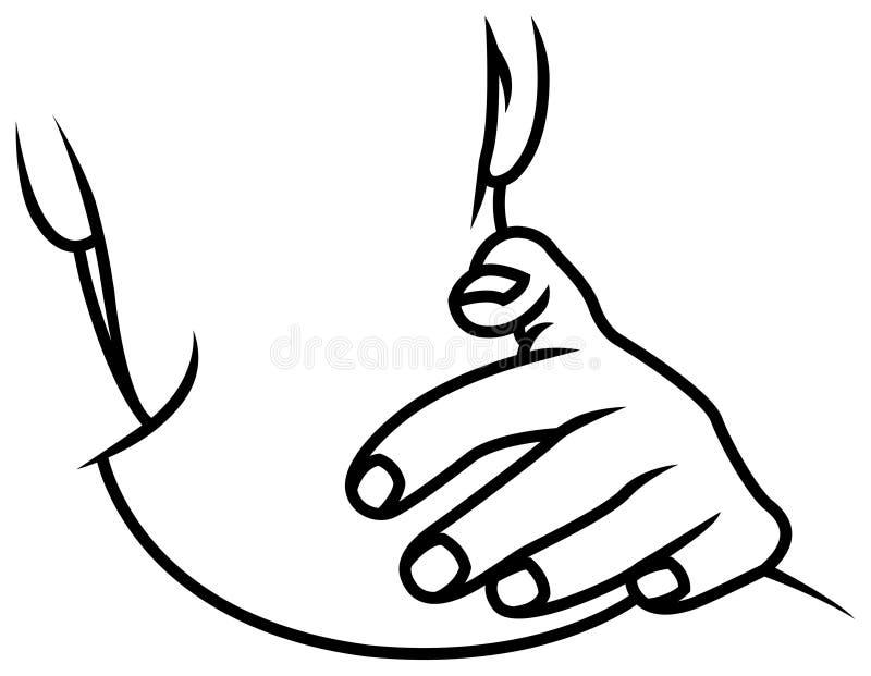 Dor de pescoço ilustração stock