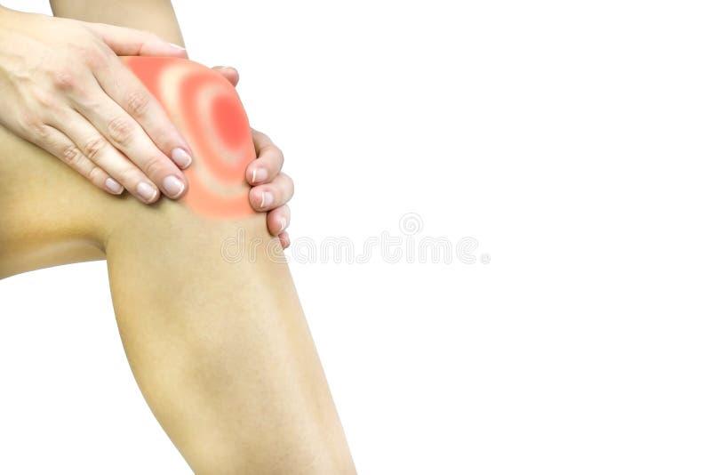 Dor do joelho imagens de stock