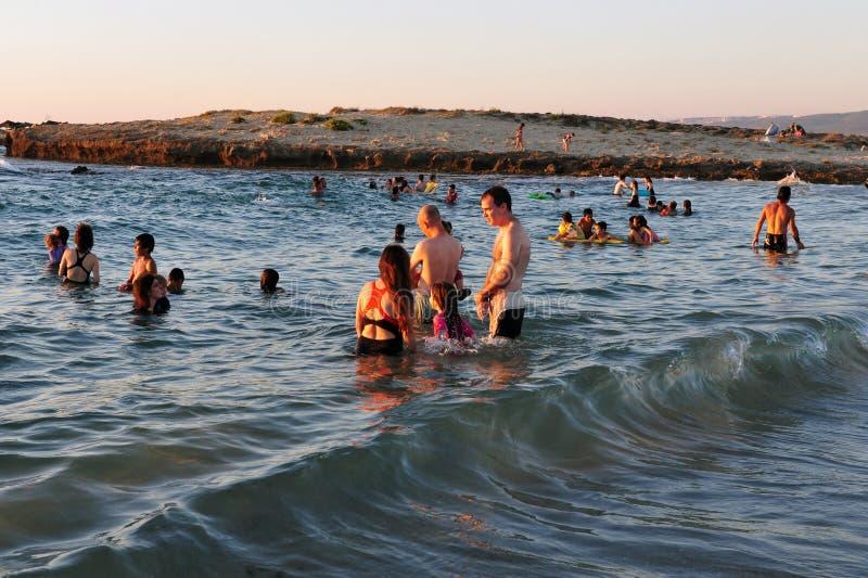 Dor Habonim Beach - Israel imagenes de archivo