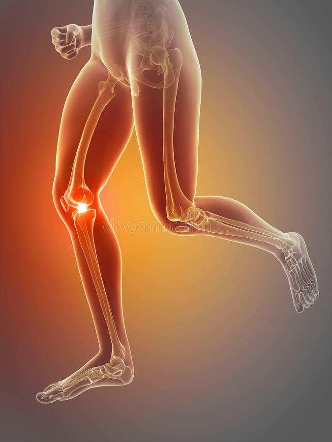 dor no joelho ilustração stock