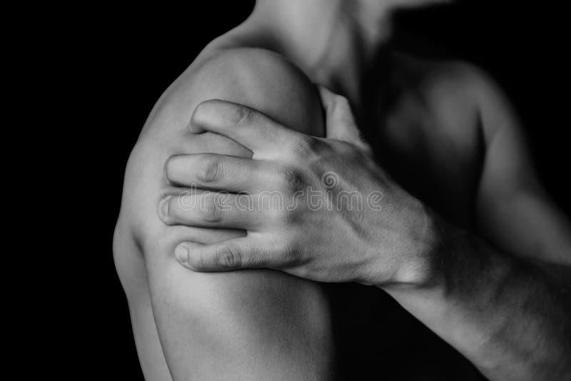 Dor no ombro imagem de stock