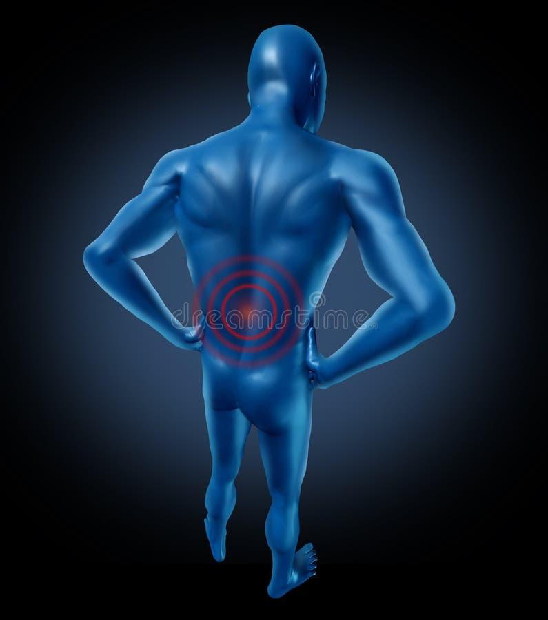 Dor traseira humana ilustração stock