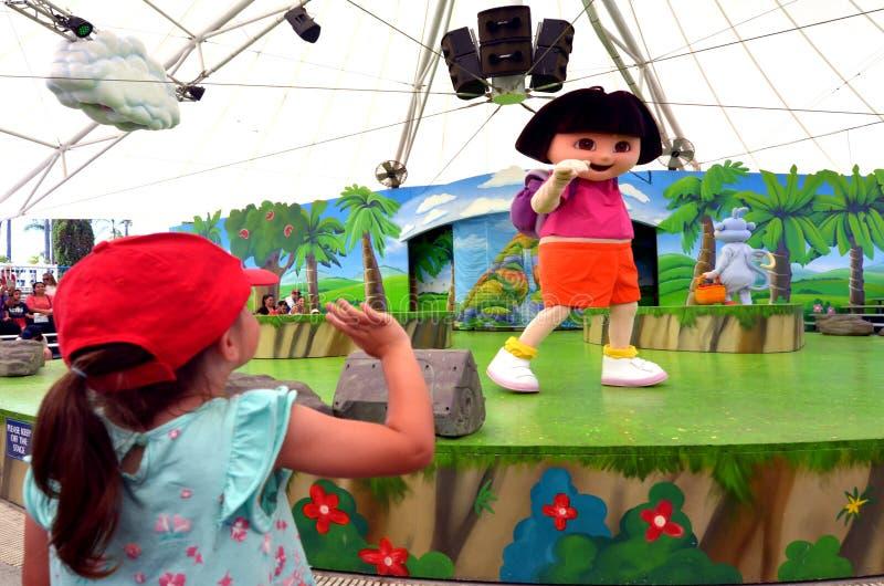 Dora, a Aventureira foto de stock